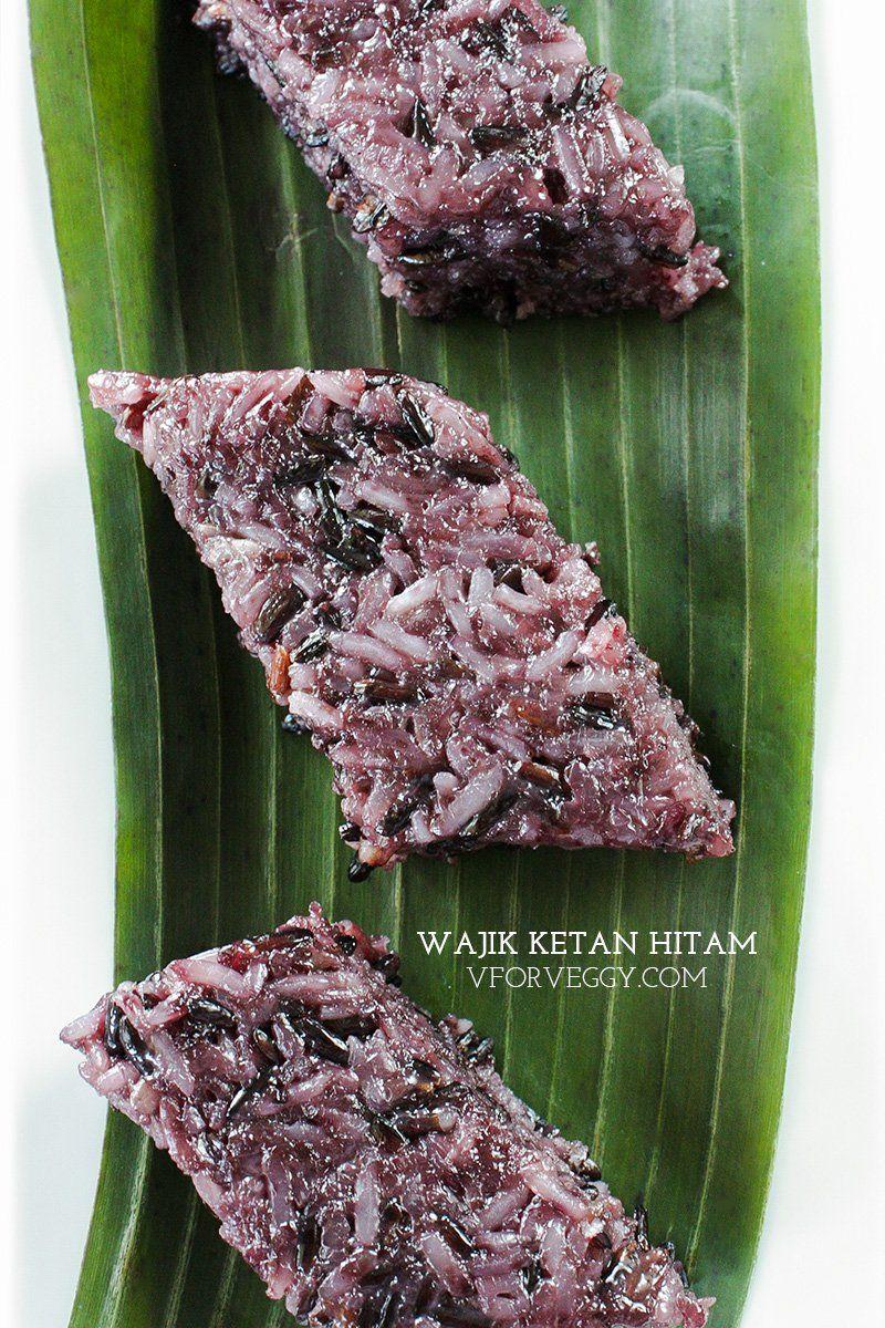 Wajik Ketan Hitam Indonesian Sticky Rice Cake Recipe Rice Cakes Sticky Rice Cake Recipe Sticky Rice Cakes