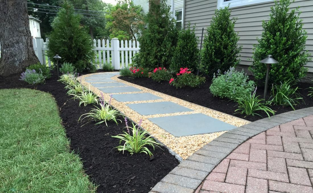 Pictures Of Walk Ways With Oea Gravel Yahoo Search Results Backyard Walkway Walkway Landscaping Stepping Stone Walkways