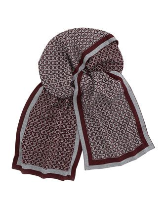 Footaction Cheap Price Salvatore Ferragamo Gancini print scarf Discount Recommend Cheap Price Wholesale Clearance Enjoy Many Colors pBWTBC
