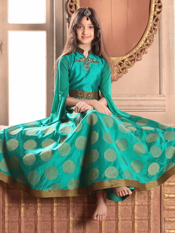 Green Silk Gown | Girls Gown G3 colection | Pinterest | Silk gown ...