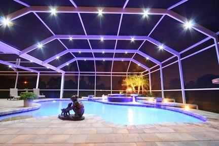 led swimming pool enclosure lighting