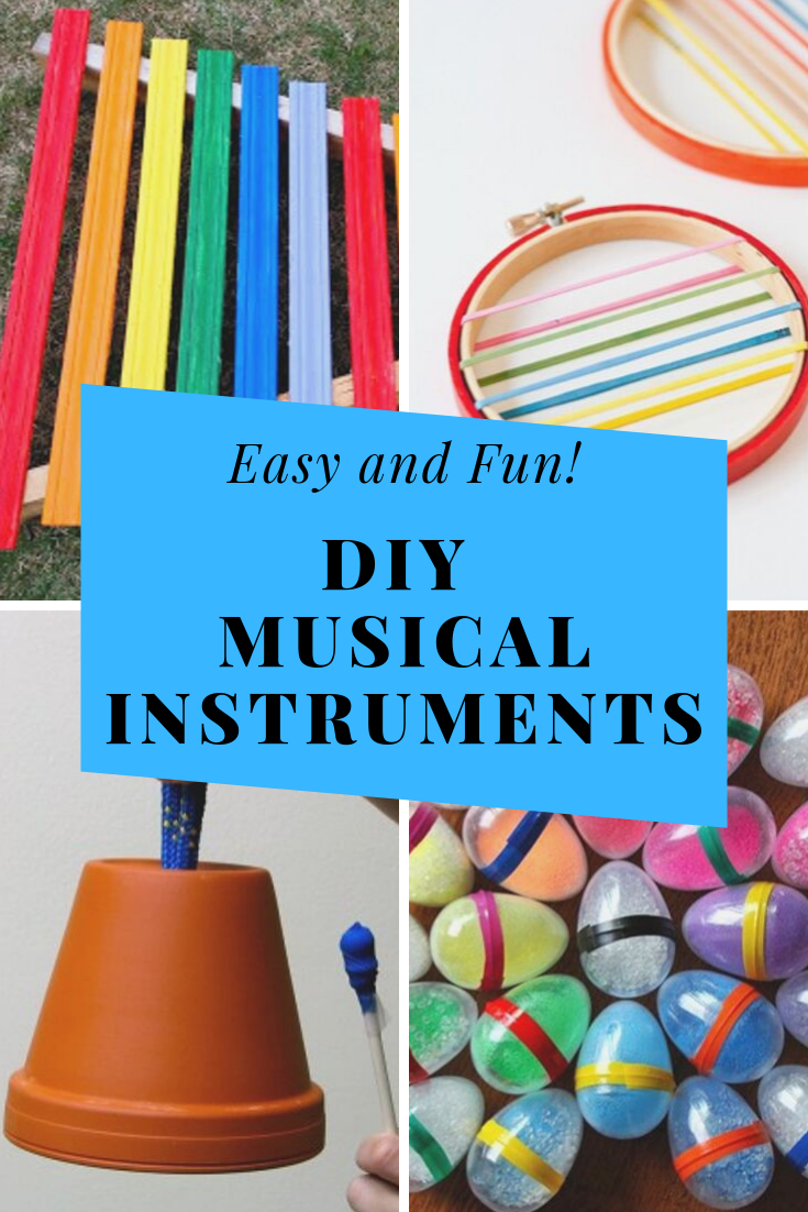 You and your little ones will love these musical instrument crafts for kids! They're super easy and a great way to have some homemade musical fun. #howweelearn #preschool #kidsmusic #diykids #kidsactivities #craftsfortoddlers #february #crafts #for #toddlers