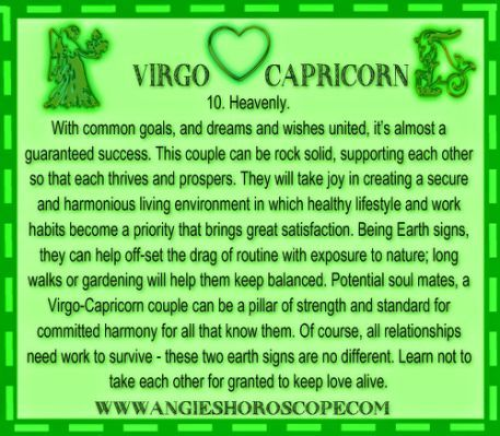 Capricorn man and a virgo woman