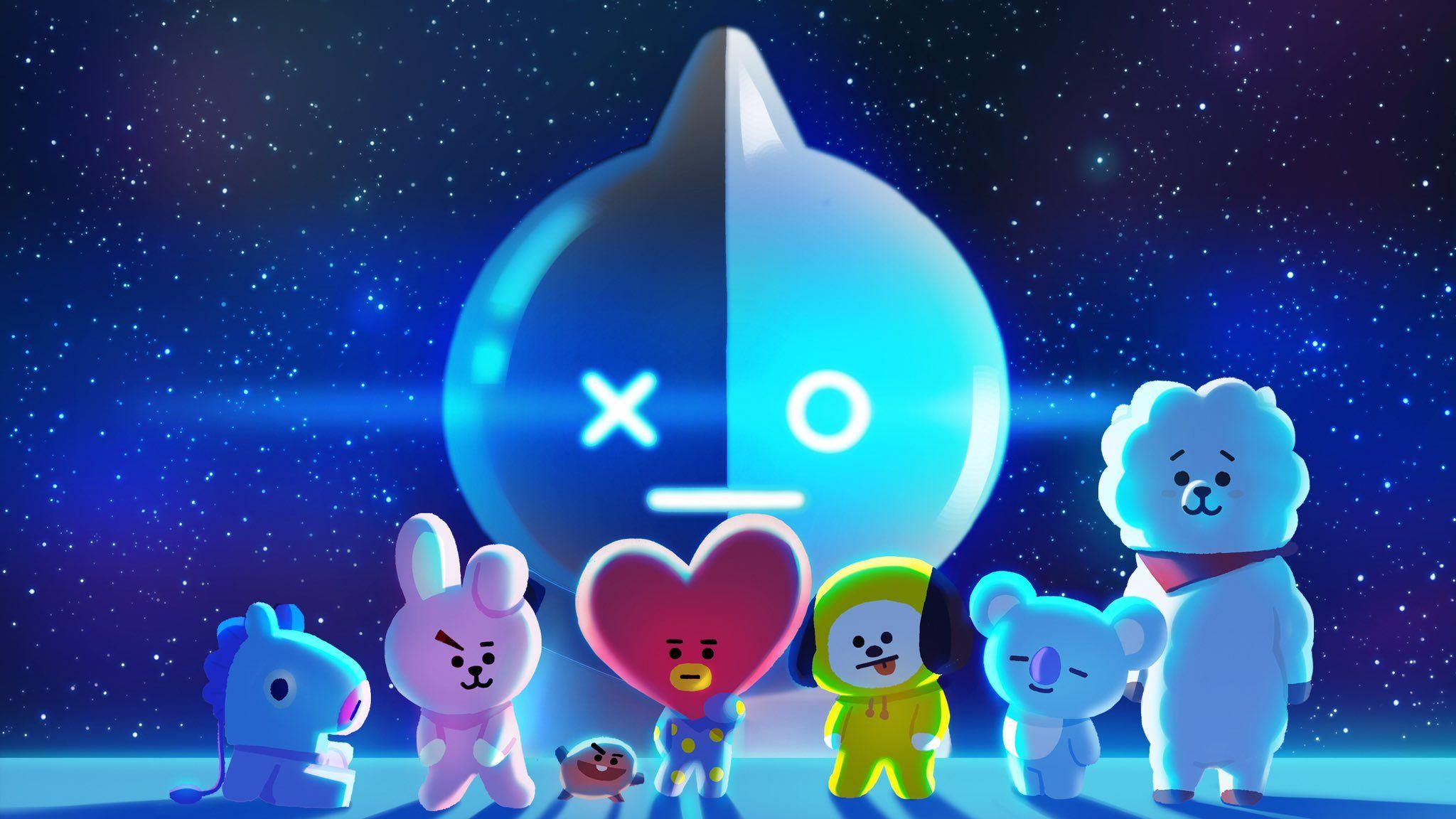 Bt21 On Twitter Bts Emoji Line Friends Bts Fanart