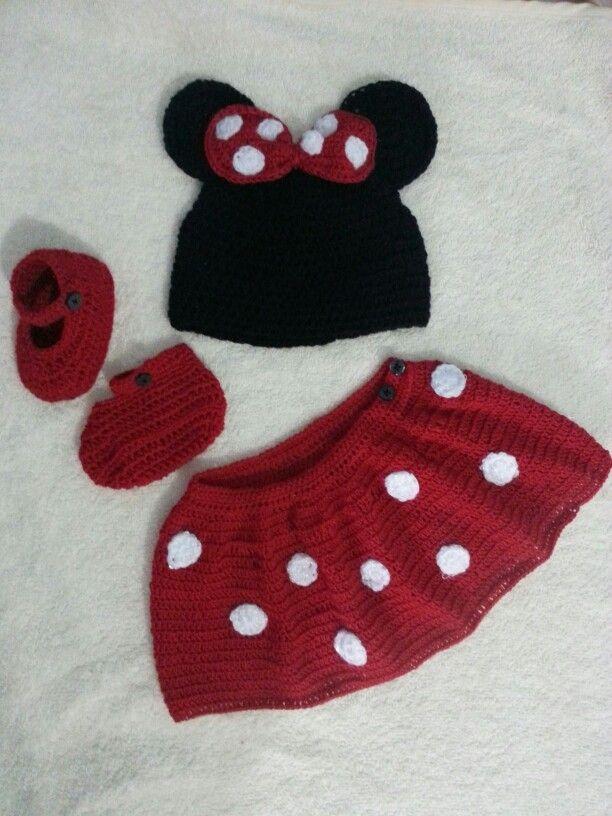 Minie mouse set tejido a crochet para bb ****ruiz_elvis@hotmail.com ...