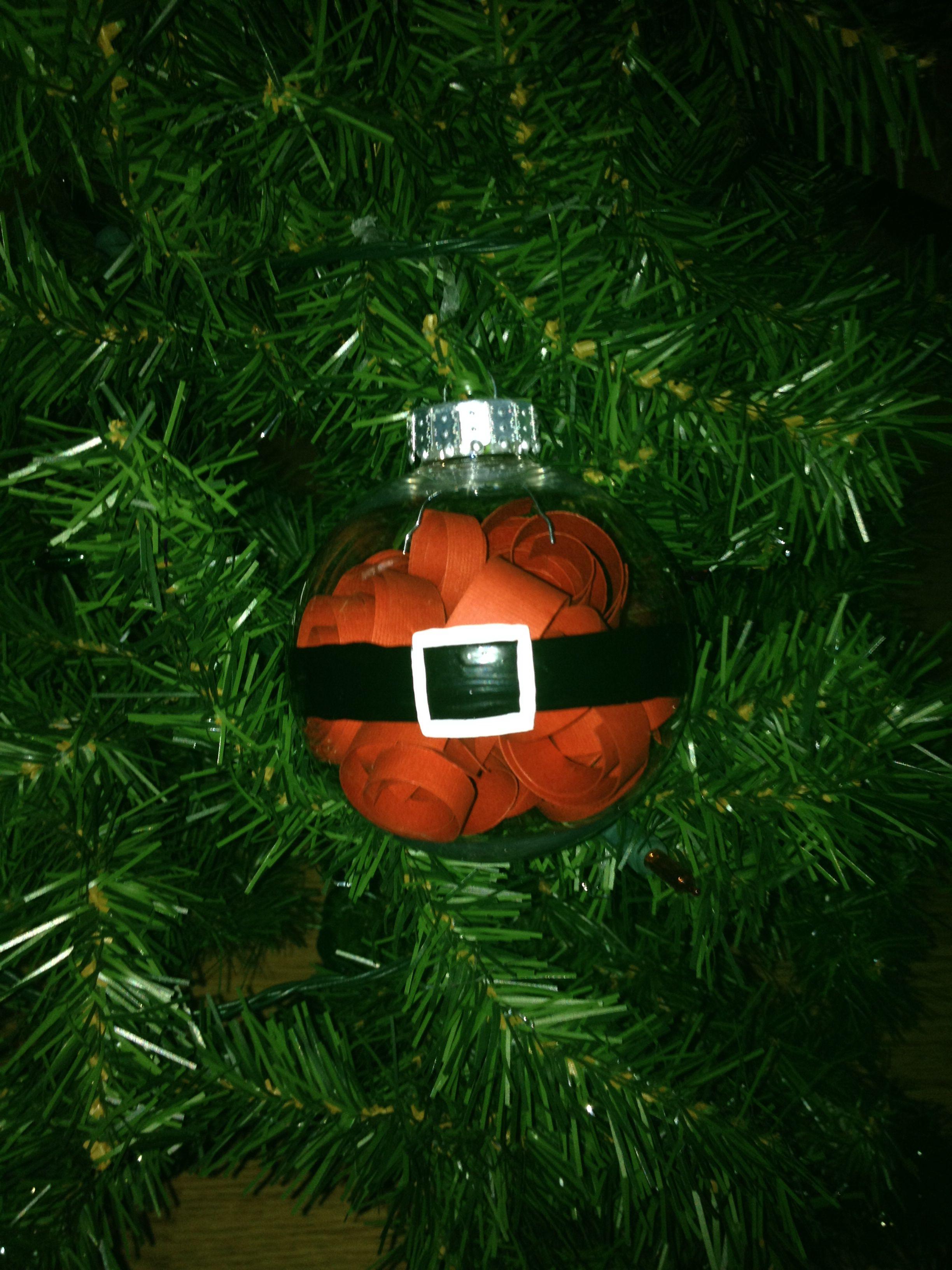 Round Santa Ornament Christmas bulbs, Santa ornaments