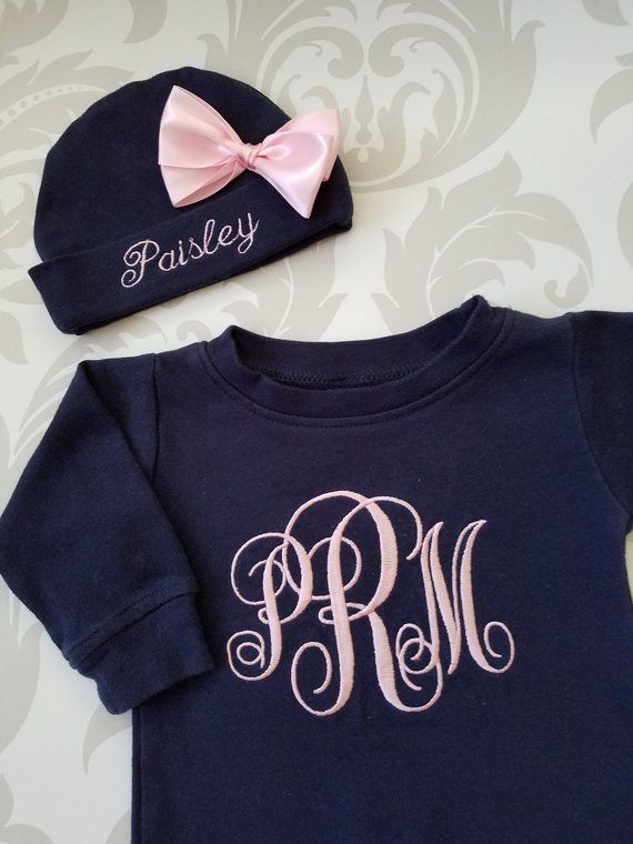 2a5484b9f0e8 Baby Girl Coming Home Outfit Newborn Personalized Sleeper Baby Girl ...