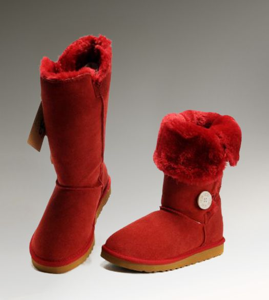 8eeffca1f00 UGG Triplet Bailey Button 1873 Red Boots | Women UGG Bailey Button ...