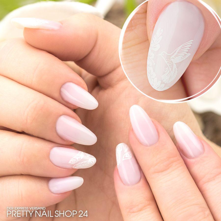 rosé #soft #kolibri #nails #nailart Milchiges Rosé (Art.-Nr. 4607 ...