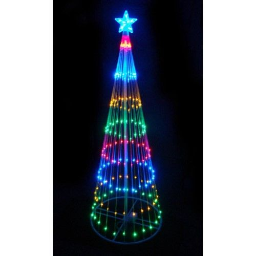 9\u0027 Multi-Color LED Light Show Cone Christmas Tree Lighted Yard Art