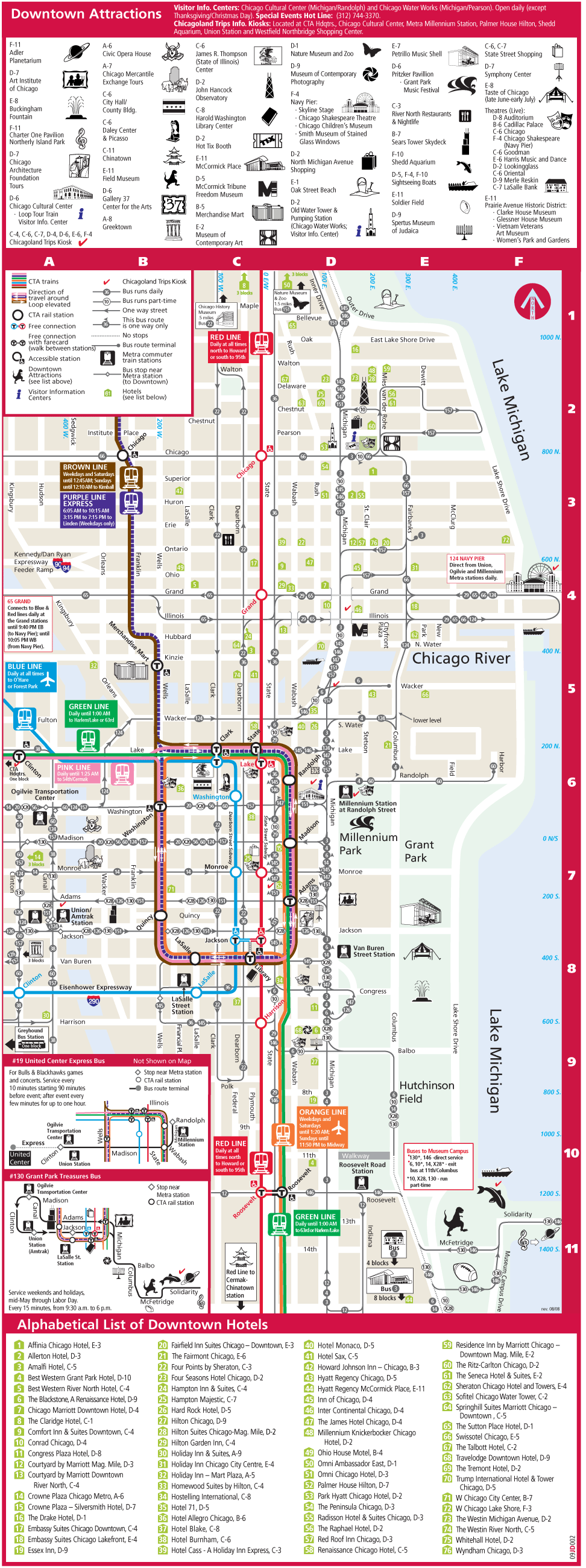 Of course a map. Chicago Tourist Map | Places To Go ...