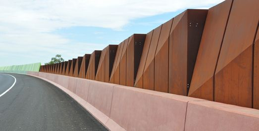 Freeway Noise Walls Sound Walls Noise Barriers Noise Barrier Design Noise Wall Installation Aus Group Alliance