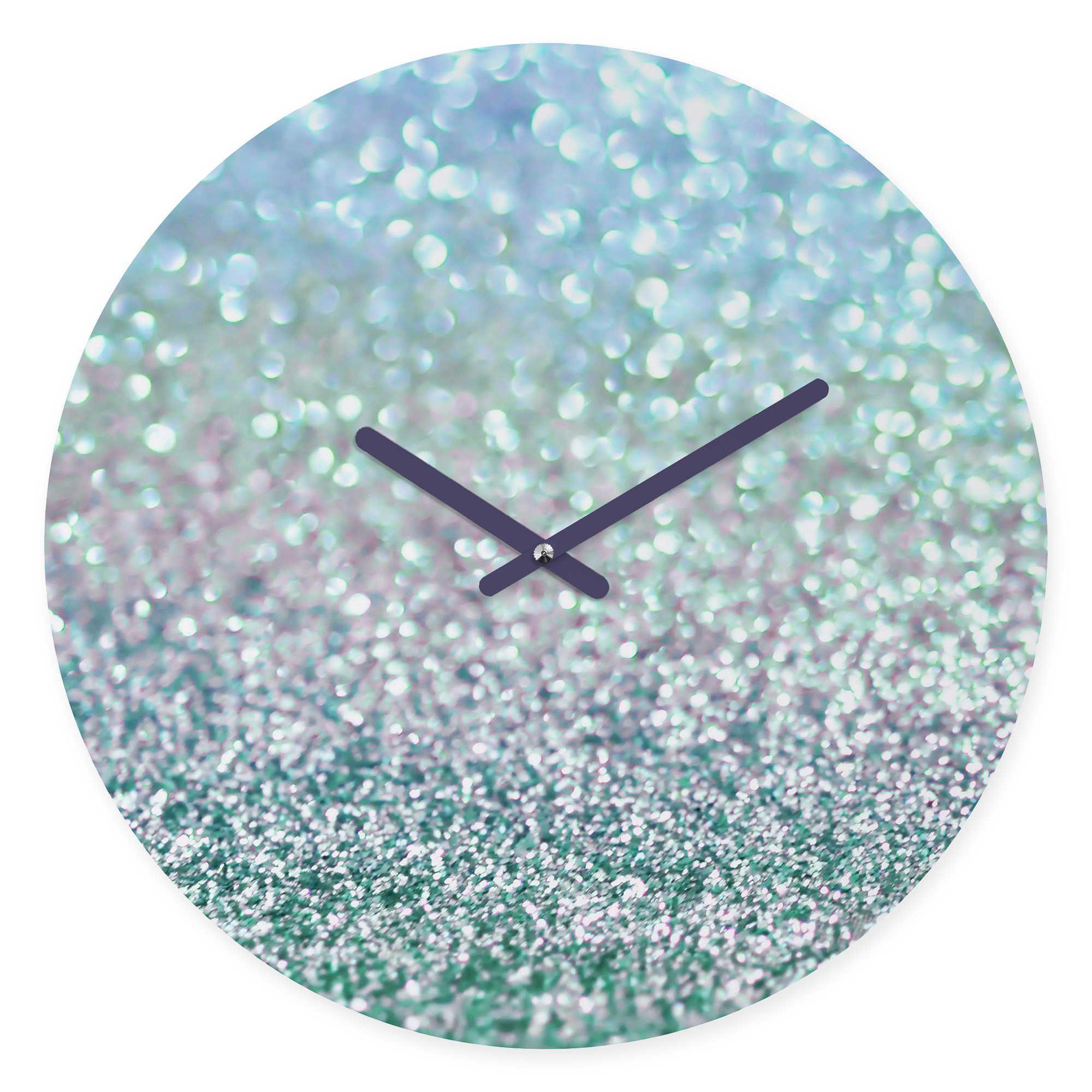 DENY Designs Lisa Argryopoulos Blue Mist Snowfall Round Wall Clock