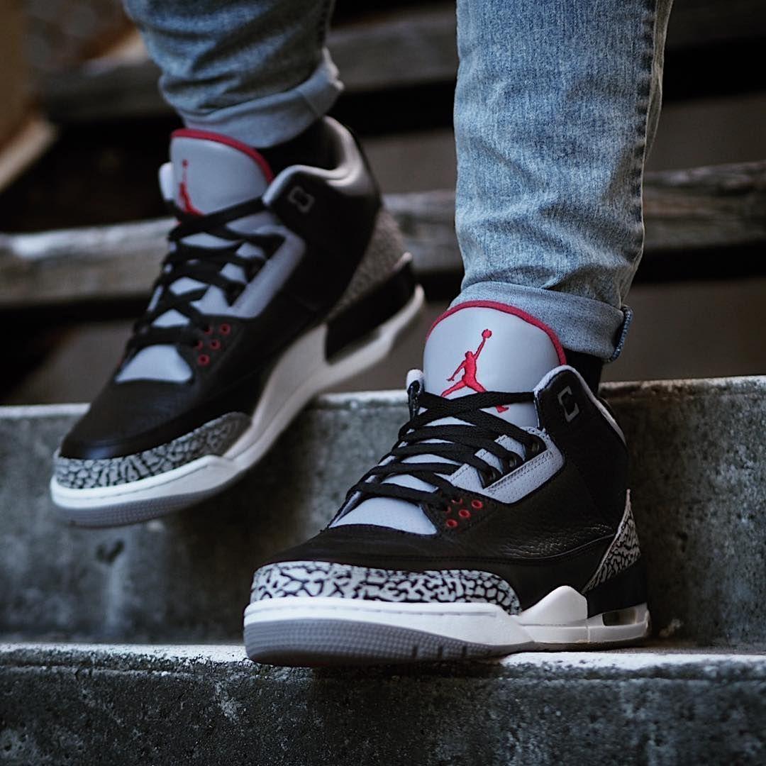 free shipping 7df63 de2ec Air Jordan 3 Retro Black Cement #Sneakers | Sneakers ...