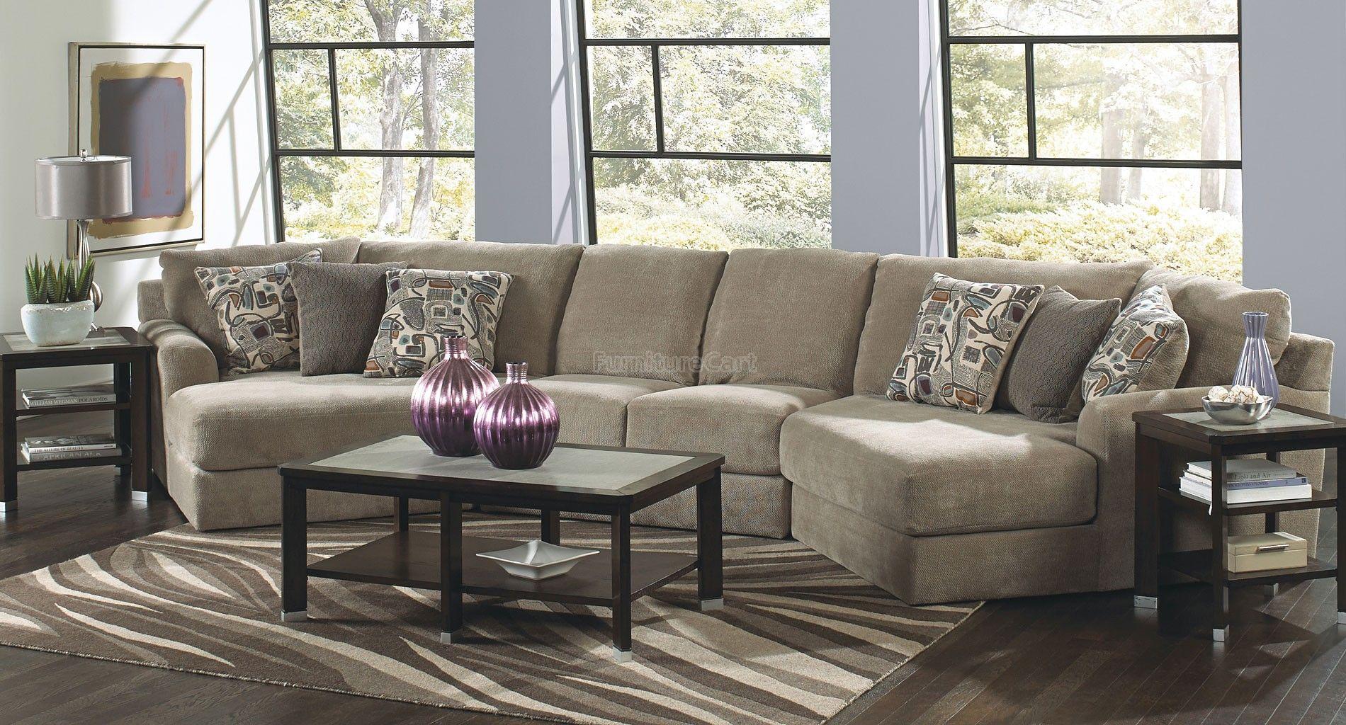 Malibu Modular Sectional W Piano Wedge Taupe Stylish Living Room Furniture Jackson Furniture Furniture
