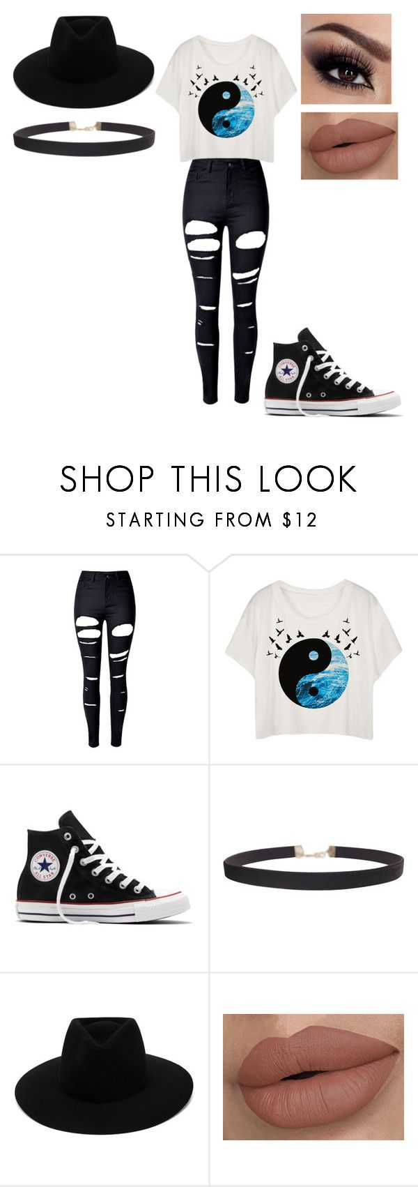 """""""Equal"""" by laney02 ❤ liked on Polyvore featuring WithChic, Converse, Humble Chic and rag & bone"""