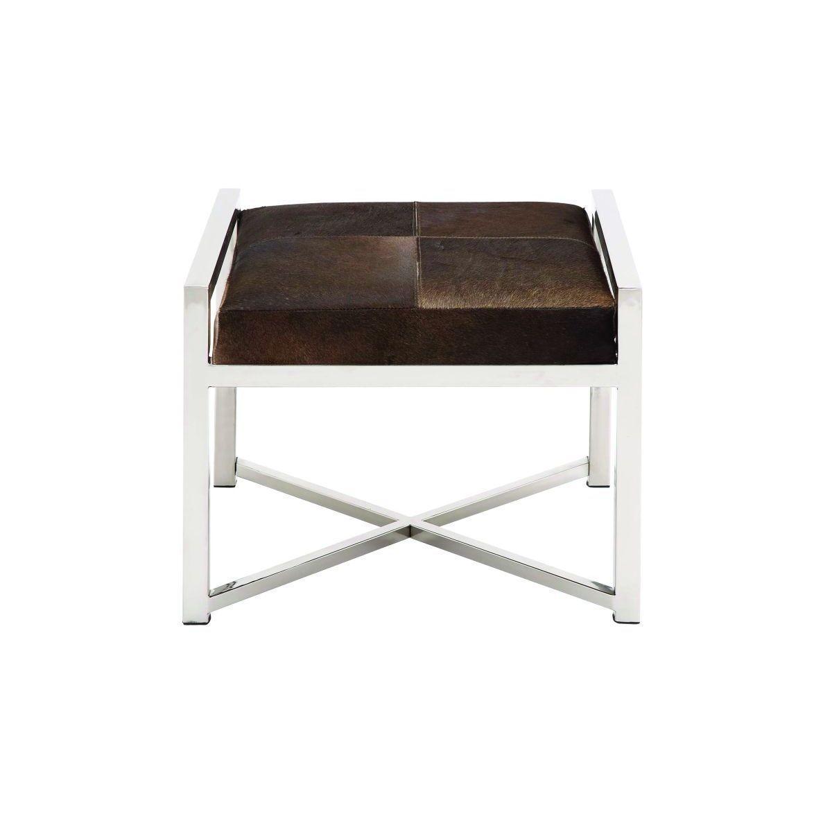 Magnificent Enterprises Stainless Steel Leather Hide 22 Inch Wide X 17 Inzonedesignstudio Interior Chair Design Inzonedesignstudiocom