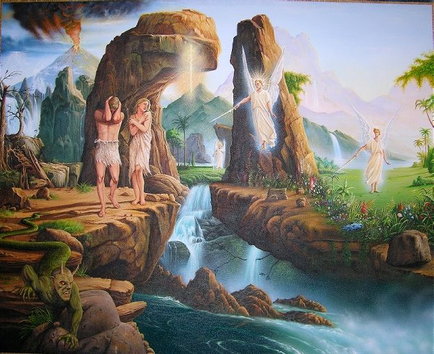 Having Become Carnal Adam And Eve Had To Leave The Blessed Garden To Till The Ground And To Eat By The Sweat Of Their Brow From There Adam And Eve Art