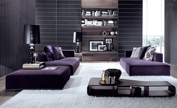 Bachelor Pad Essentials Furniture Other Manly Ideas Purple Living Room Purple Living Room Furniture Purple Room Design