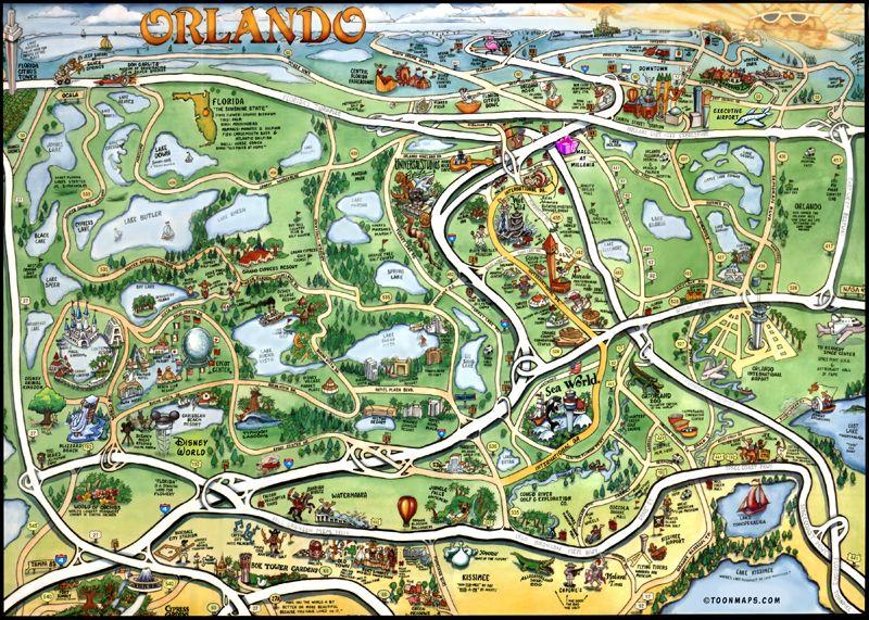 Florida Map Orlando.Map Caricature Google Search Artsy Fartsy Pinterest