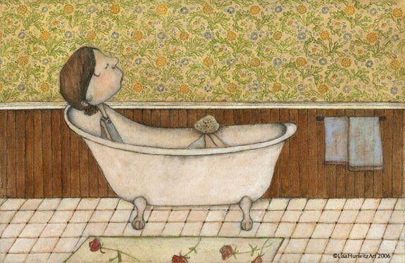 Lisa Hurwitz Pintar Banera Ilustraciones Dibujos