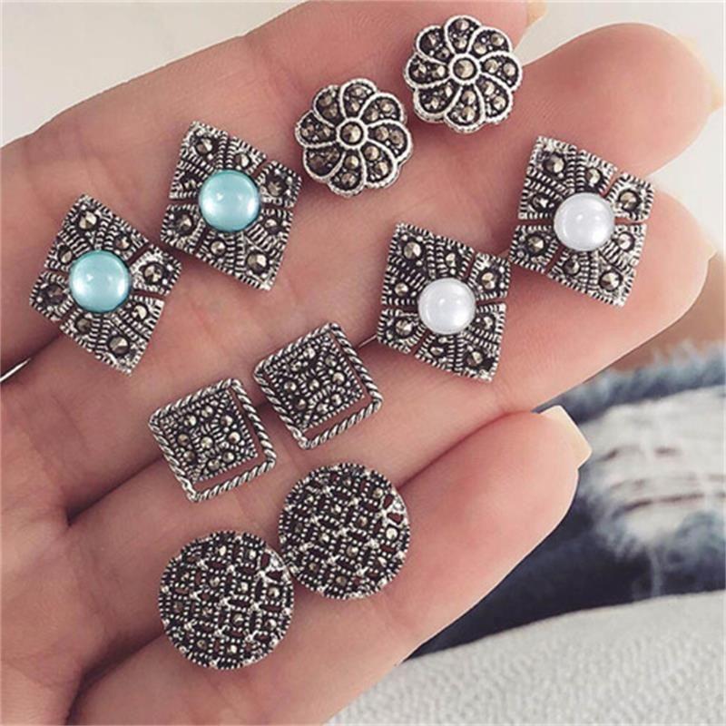 3PCs//Set Jewelry Gift Crystal Ear Studs Heart Arrow Earrings Set Rhinestones