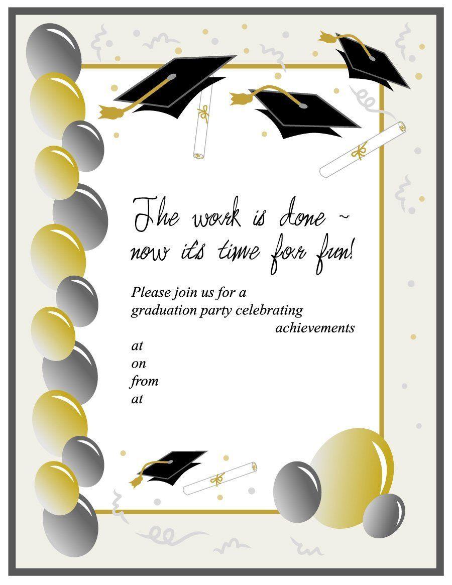 40 Free Graduation Invitation Templates ᐅ Graduation