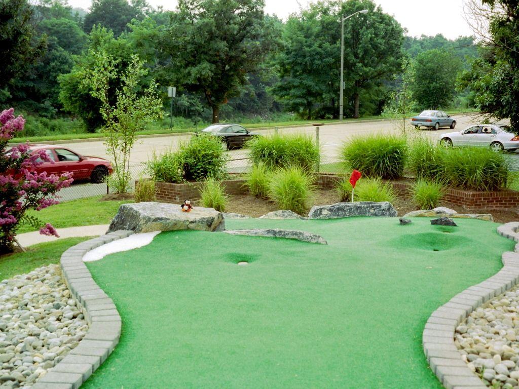 Multiple Ways Down Mini backyard golf course