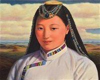 Mongolian Girl III by Xue Mo