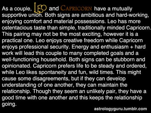 Leo and Capricorn compatibility in friendship