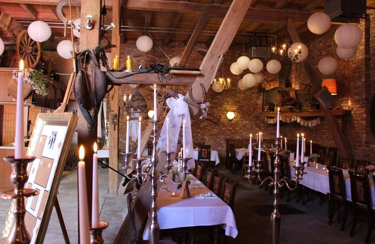 Romantische Scheune im Weingut Leo Sauer in Eibelstadt/Franken