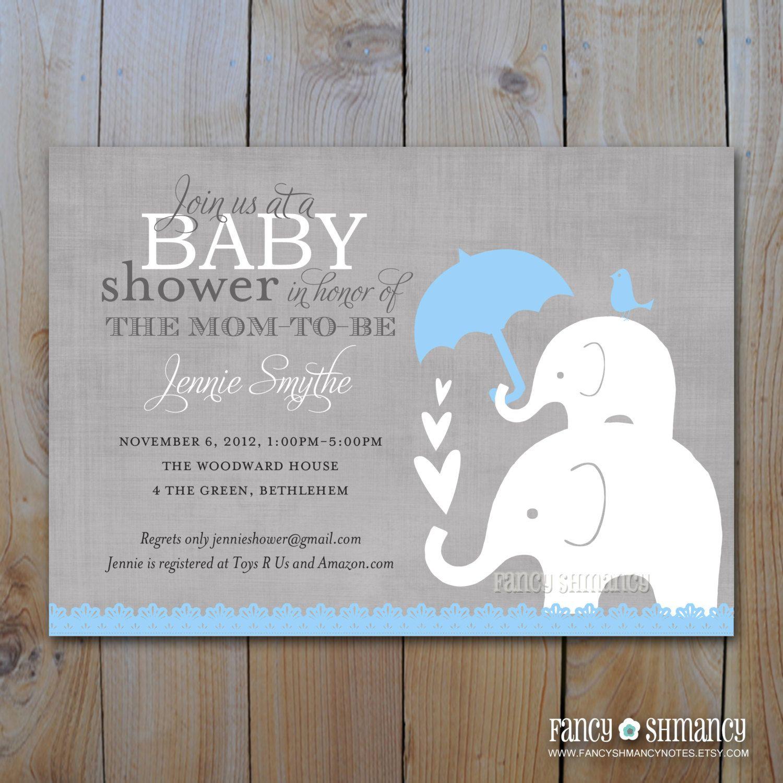 elephant baby shower | -baby-shower-invitations-shower-invitations ...