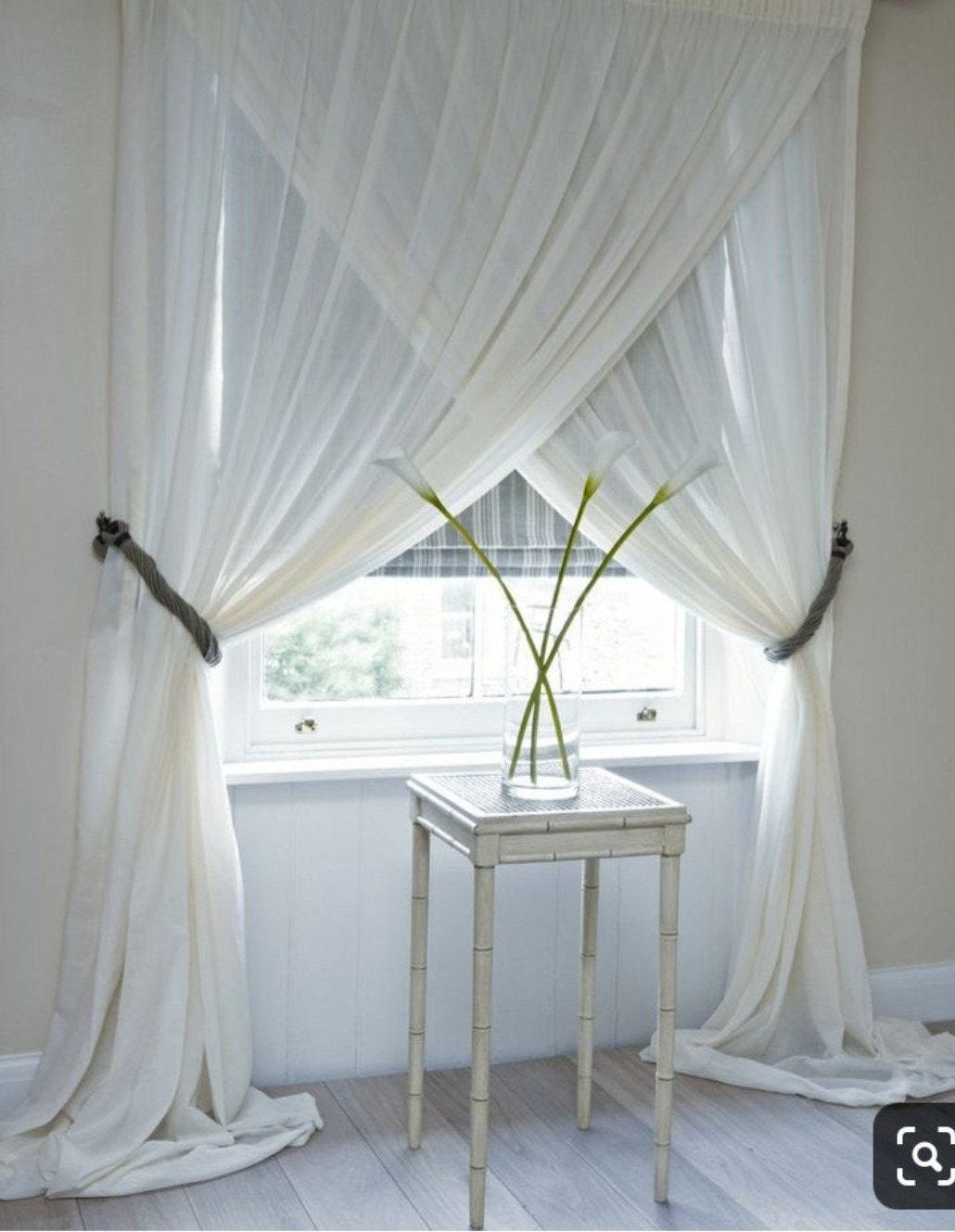 Sheer Window Curtains Voile Criss Cross Rod Pocket Panels