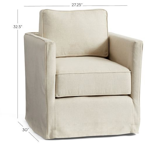 Super Soma Jessie Track Arm Slipcovered Swivel Chair 399 Pottery Onthecornerstone Fun Painted Chair Ideas Images Onthecornerstoneorg