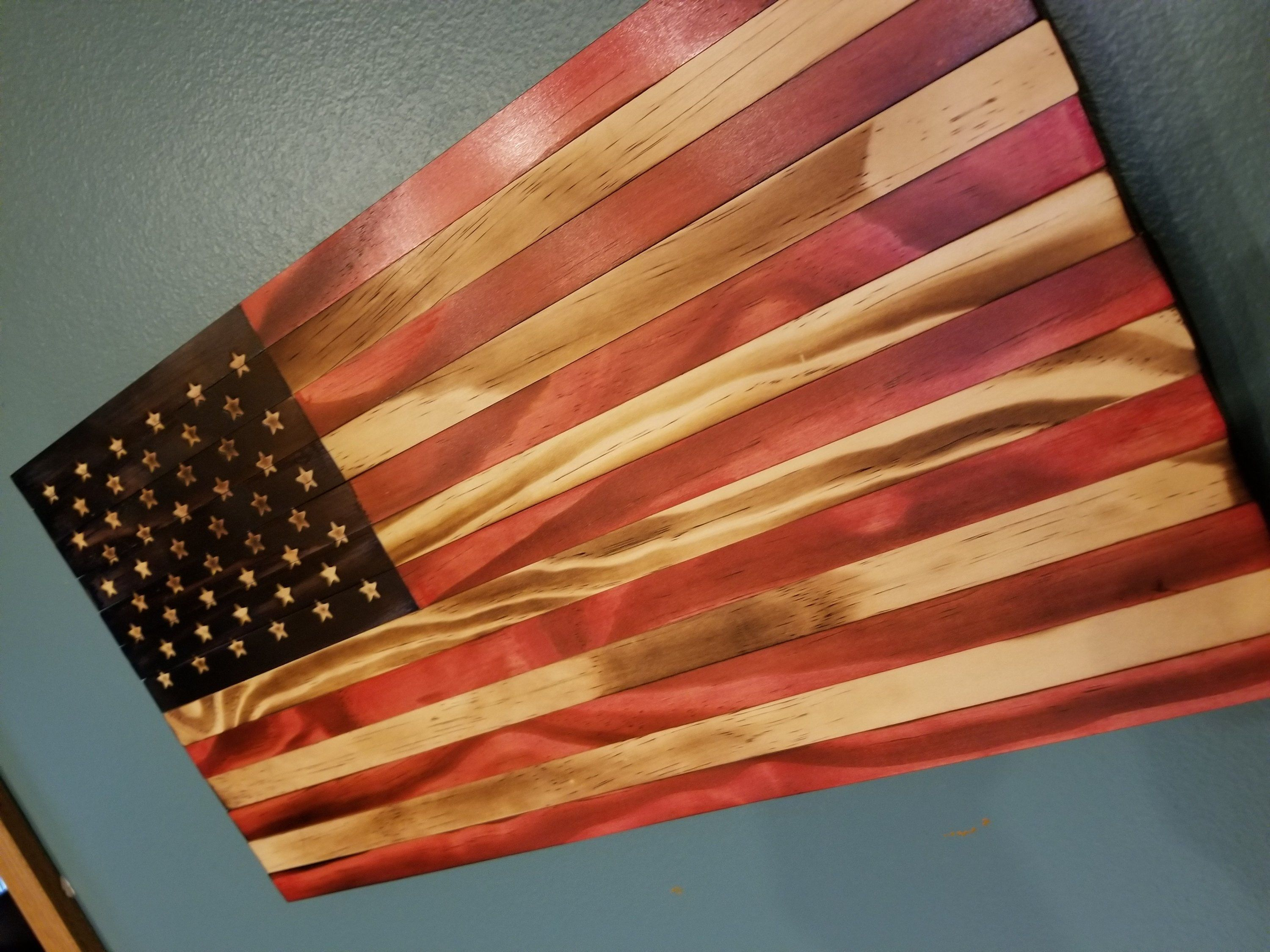 Small American Flag Wood American Flag Rustic Flag American Flag Decor Wood Flag Wall Art Us Flag Retirement Gift Military Gift Torched Flag American Flag Wood American Flag Decor Wood Flag