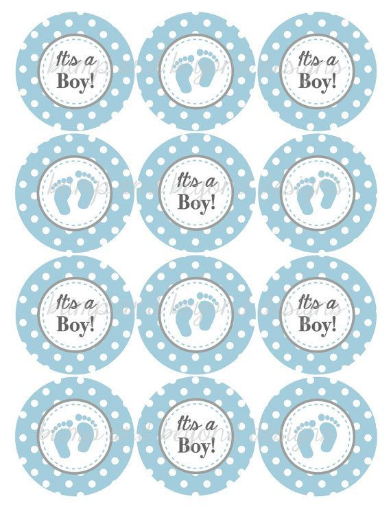 Its a boy cupcake toppers child bathe decorations powder for Baby shower cupcake picks decoration