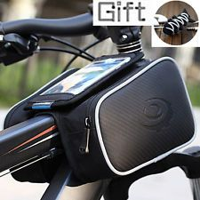 """1.8L Bike Bicycle Top Tube Frame Pannier Double Bag for 5"""" Smart Phone + Gift"""