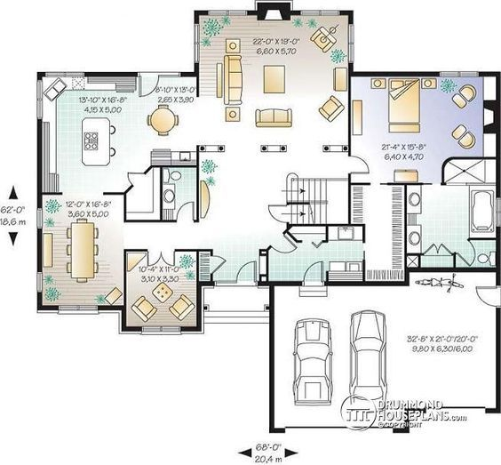 Discover The Plan 2661 Lancaster Which Will Please You For Its 5 3 4 Bedrooms And For Its Farmhouse Styles House Plans Garage Floor Plans Family House Plans