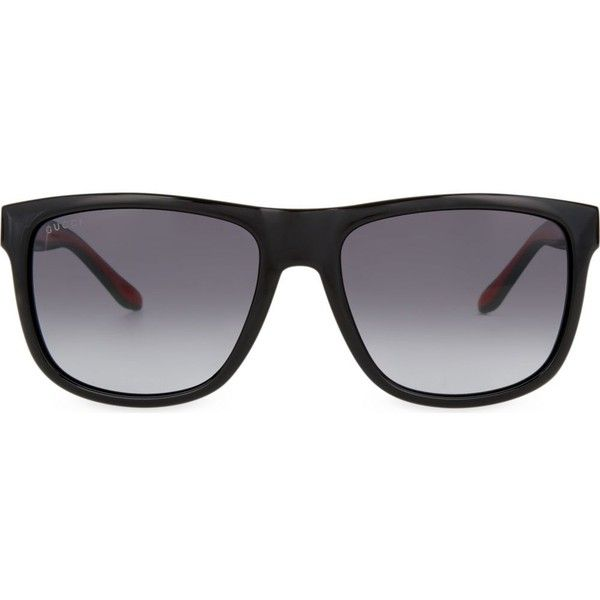 c0238a89dd6 GUCCI GG1118 rectangle sunglasses ( 260) ❤ liked on Polyvore featuring  accessories