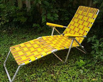 Strange Woven Aluminum Lounge Chair Yellow Orange Brown Squirreltailoven Fun Painted Chair Ideas Images Squirreltailovenorg