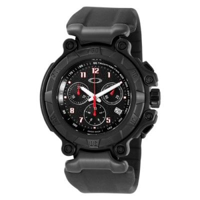 Relógio Oakley Men s 10-274 Crankcase Stealth Unobtainium Limited Edition  Chronograph Rubber Watch  Relógio  Oakley 369c179809