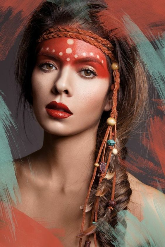 Beautiful Girl By Bookvl Blogspot And Look More Now Native American Beauty Native American Face Paint Tribal Makeup