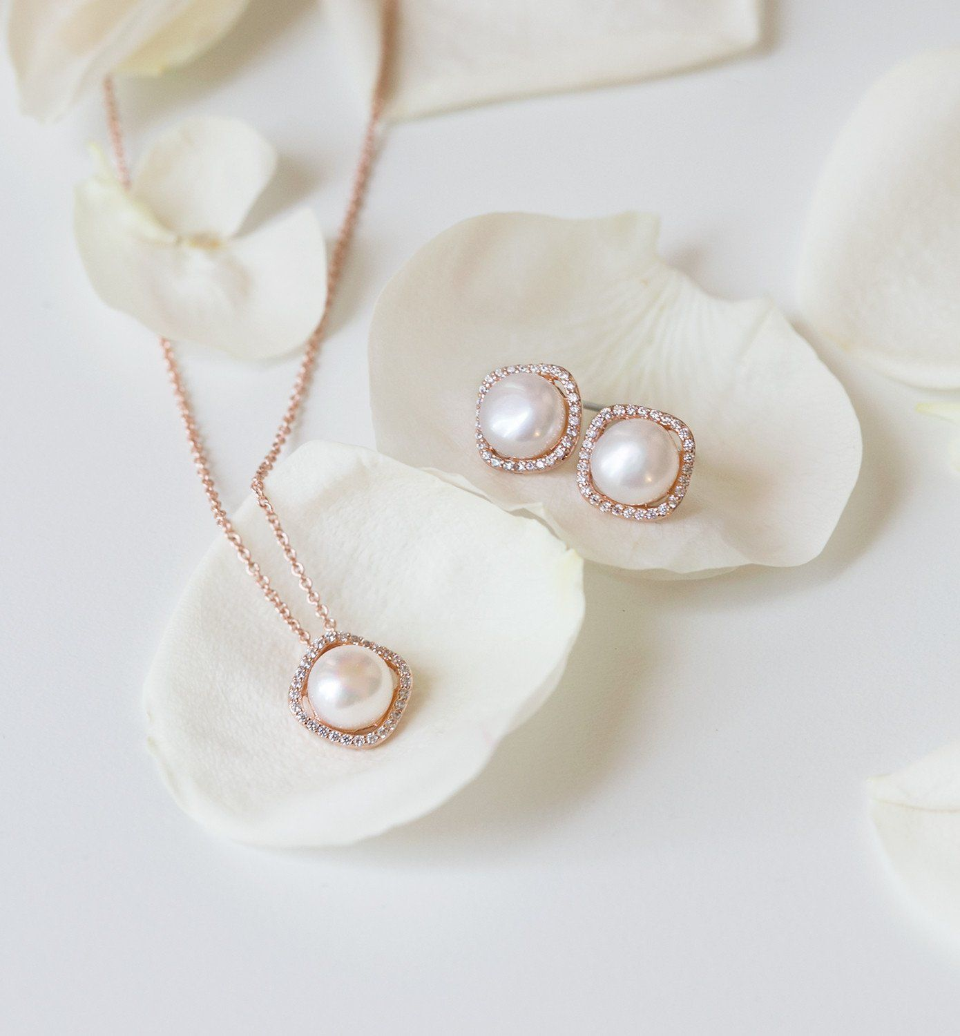 abfcbe3db Shop our rose gold bridal jewelry & wedding rose gold jewelry sets from Amy  O. Bridal. Browse more of our collection of wedding jewelry & bridal jewelry .