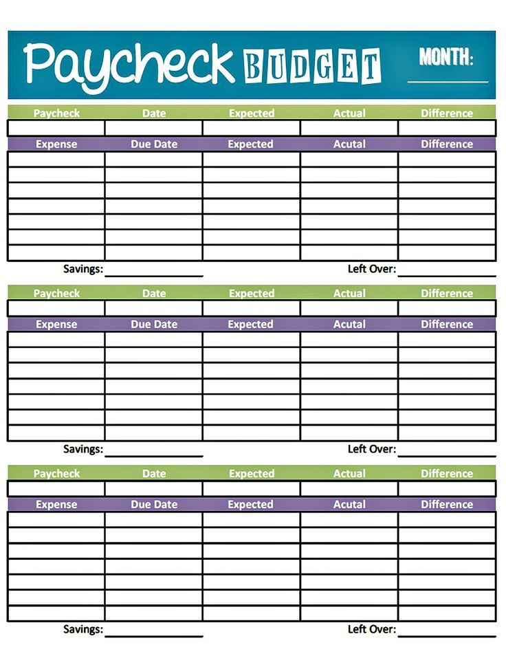 Budget Worksheet Printable | Get Paid Weekly And Charlie Gets Paid