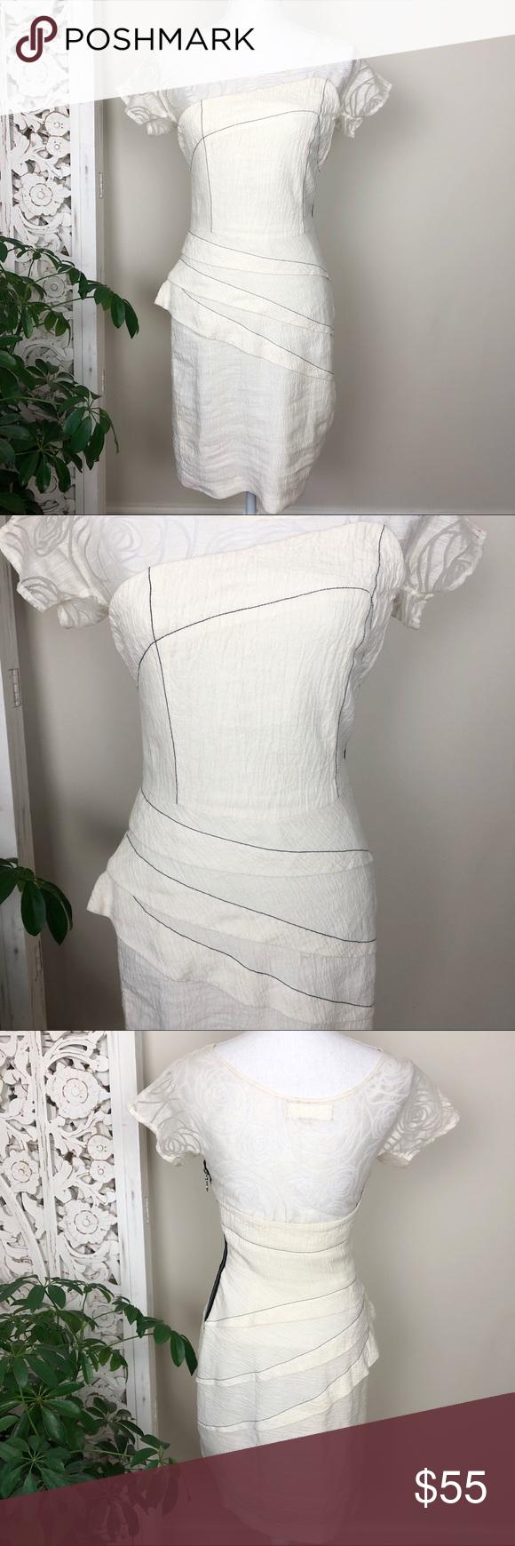 Bensoni White Layered Ruffle Dress Layered Ruffle Dress Ruffle Dress White Layers [ 1740 x 580 Pixel ]