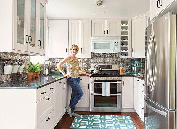 Kitchen remodeling on a budget A downsized space that is high on