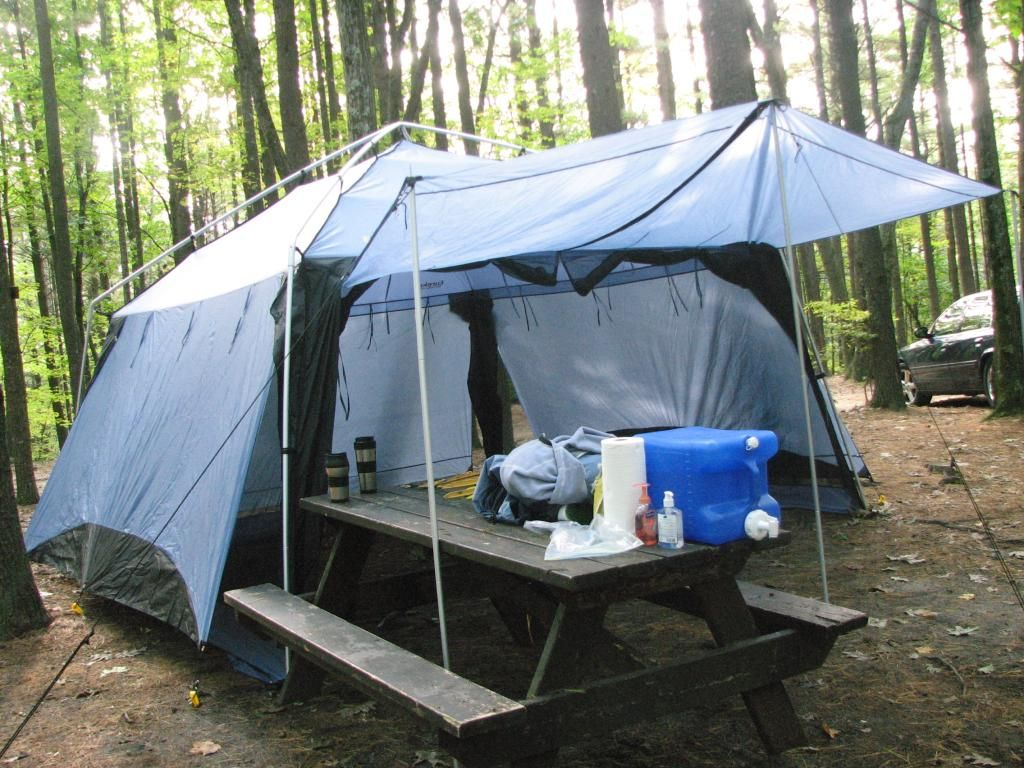 Eureka northern breeze screen house the rain fly can be for Tent over house