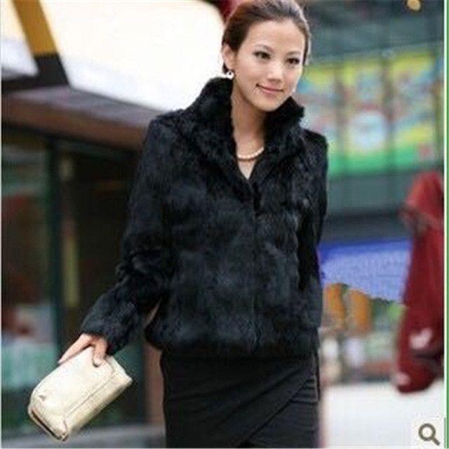 2016 New women fur coat Casual Short Design faux rabbit fur coat Lady Garment Plus Size Warm autumn Winter overcoat DX335
