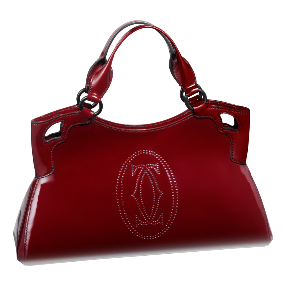 Red Women Bag Png Image Cartier Handbags Leather Handbags Handbag