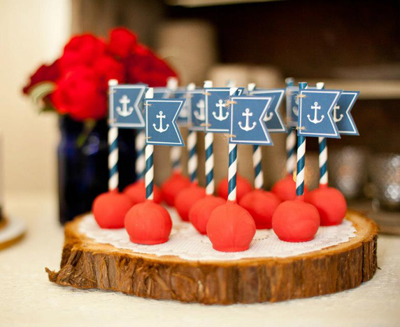 Nautical Cake Pops                                                                                                                                                     Más
